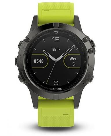 GARMIN FENIX 5 Gray Optic, Yellow band