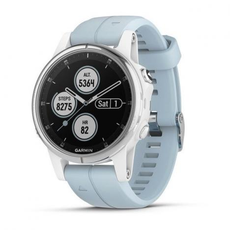 GARMIN FENIX 5S Plus White, Seafoam Band