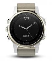 GARMIN FENIX 5S Sapphire Goldtone Optic, Suede band