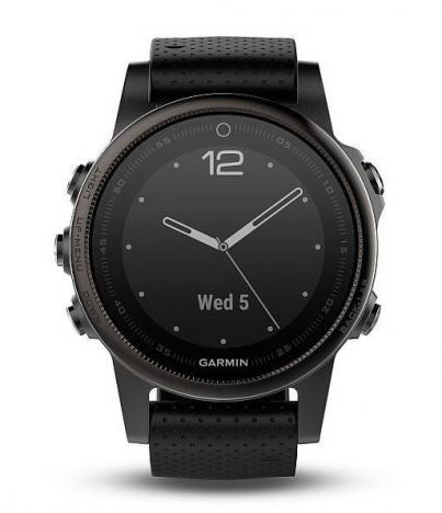 GARMIN FENIX 5S Sapphire Black Optic, Black band