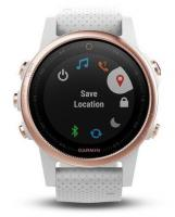 GARMIN FENIX 5S Sapphire Rose Gold Optic, White band