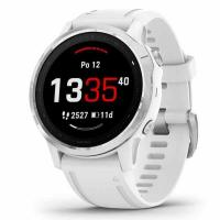GARMIN FENIX 6S Glass, Silver/White Band