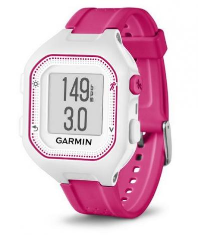 GARMIN FORERUNNER 25 HR Optic White Pink S