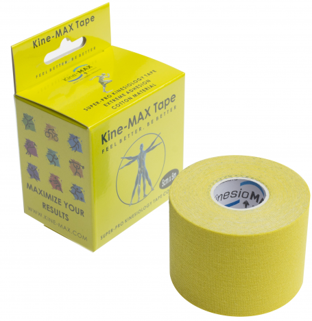 KINEMAX SUPERPRO COTTON TAPE žlutá 5 m
