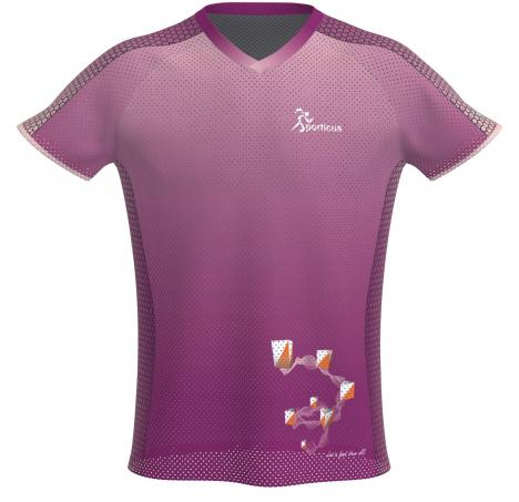 SPORTICUS Basic Mesh O-Shirt Purple design Sporticus