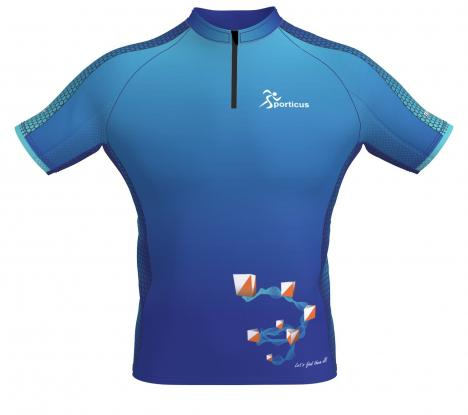 SPORTICUS Trail Shirt Blue Women design Sporticus